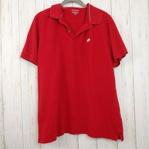 BANANA REPUBLIC Polo Shirt Size Large Red
